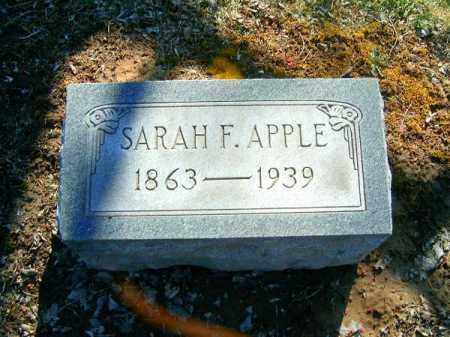 APPLE, SARAH  F - Clermont County, Ohio | SARAH  F APPLE - Ohio Gravestone Photos