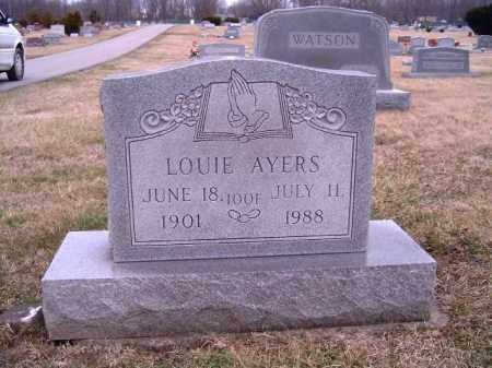 AYERS, LOUIE - Clermont County, Ohio | LOUIE AYERS - Ohio Gravestone Photos