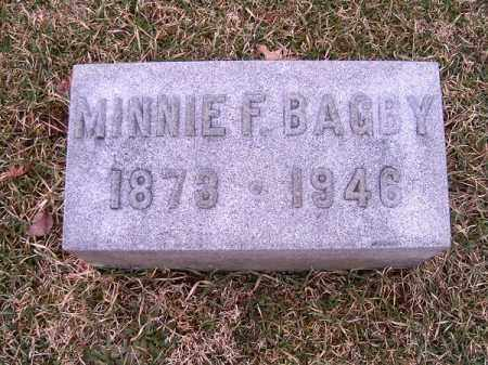 BAGBY, MINNIE   F - Clermont County, Ohio | MINNIE   F BAGBY - Ohio Gravestone Photos