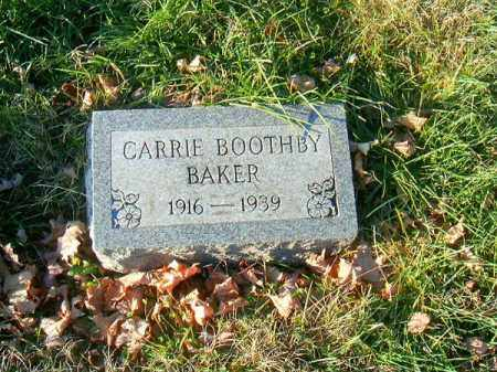 BOOTHBY BAKER, CARRIE - Clermont County, Ohio | CARRIE BOOTHBY BAKER - Ohio Gravestone Photos