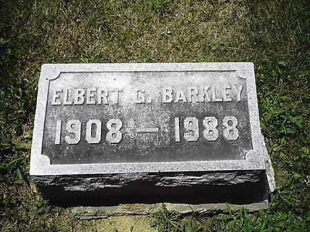 BARKLEY, ELBERT  G - Clermont County, Ohio | ELBERT  G BARKLEY - Ohio Gravestone Photos