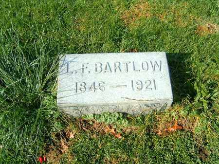 BARTLOW, L F - Clermont County, Ohio | L F BARTLOW - Ohio Gravestone Photos