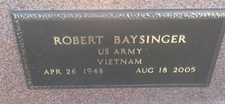 BAYSINGER, ROBERT - Clermont County, Ohio | ROBERT BAYSINGER - Ohio Gravestone Photos