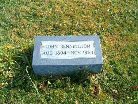 BENNINGTON, JOHN - Clermont County, Ohio | JOHN BENNINGTON - Ohio Gravestone Photos