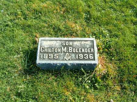 BOLENDER, CHILTON  M - Clermont County, Ohio | CHILTON  M BOLENDER - Ohio Gravestone Photos