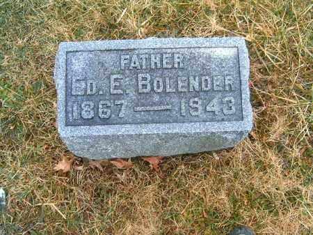 BOLENDER, ED  E - Clermont County, Ohio | ED  E BOLENDER - Ohio Gravestone Photos