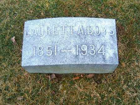 BOYS, LAURETTA  A - Clermont County, Ohio | LAURETTA  A BOYS - Ohio Gravestone Photos