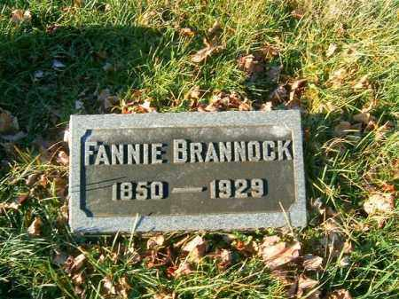 BRANNOCK, FANNIE - Clermont County, Ohio | FANNIE BRANNOCK - Ohio Gravestone Photos