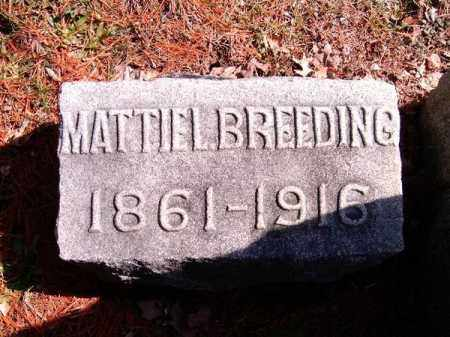 BREEDING, MATTIE  L - Clermont County, Ohio | MATTIE  L BREEDING - Ohio Gravestone Photos