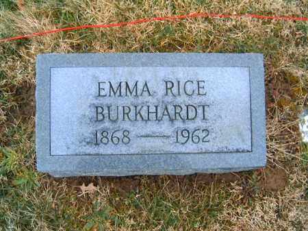 RICE BURKHARDT, EMMA - Clermont County, Ohio | EMMA RICE BURKHARDT - Ohio Gravestone Photos