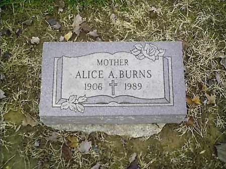 BURNS, ALICE A - Clermont County, Ohio | ALICE A BURNS - Ohio Gravestone Photos