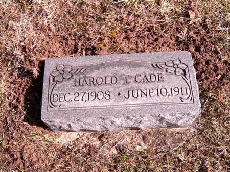 CADE, HAROLD   T - Clermont County, Ohio | HAROLD   T CADE - Ohio Gravestone Photos