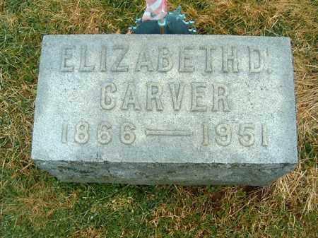 CARVER, ELIZABETH  D - Clermont County, Ohio | ELIZABETH  D CARVER - Ohio Gravestone Photos