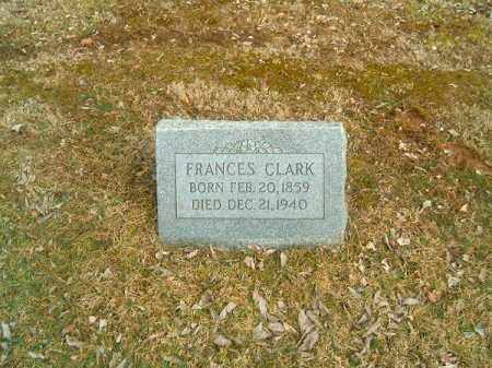 CLARK, FRANCES - Clermont County, Ohio | FRANCES CLARK - Ohio Gravestone Photos