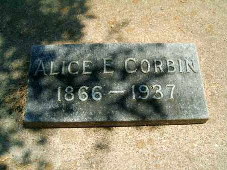 CORBIN, ALICE  E - Clermont County, Ohio | ALICE  E CORBIN - Ohio Gravestone Photos