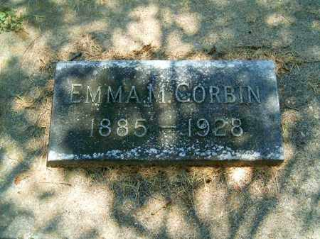 CORBIN, EMMA  M - Clermont County, Ohio | EMMA  M CORBIN - Ohio Gravestone Photos