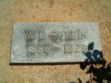 CORBIN, W  B - Clermont County, Ohio | W  B CORBIN - Ohio Gravestone Photos