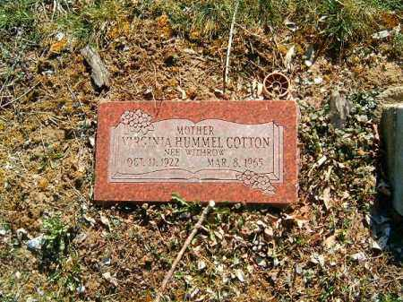 WITHROW COTTON, VIRGINIA - Clermont County, Ohio | VIRGINIA WITHROW COTTON - Ohio Gravestone Photos