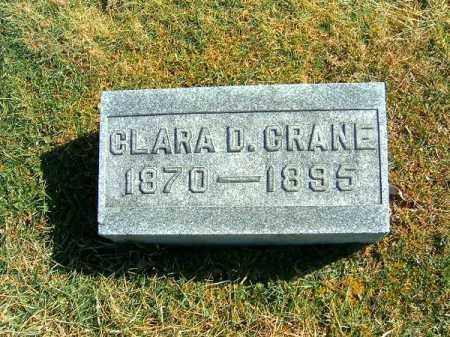CRANE, CLARA  D - Clermont County, Ohio | CLARA  D CRANE - Ohio Gravestone Photos