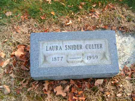 SNIDER CULTER, LAURA - Clermont County, Ohio | LAURA SNIDER CULTER - Ohio Gravestone Photos