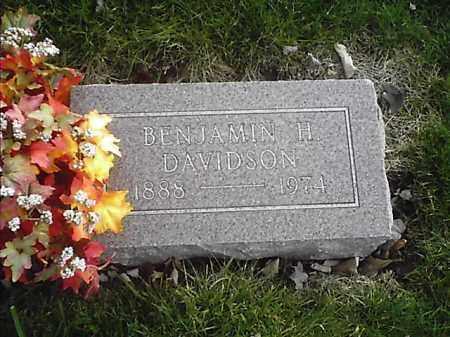 DAVIDSON, BENJAMIN H - Clermont County, Ohio | BENJAMIN H DAVIDSON - Ohio Gravestone Photos