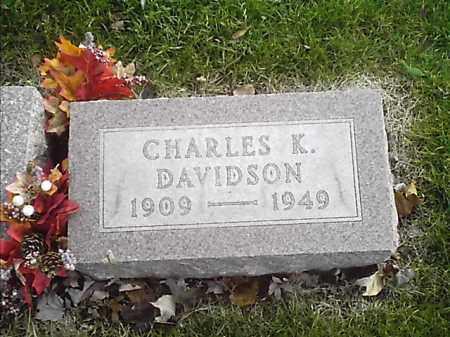 DAVIDSON, CHARLES K - Clermont County, Ohio | CHARLES K DAVIDSON - Ohio Gravestone Photos