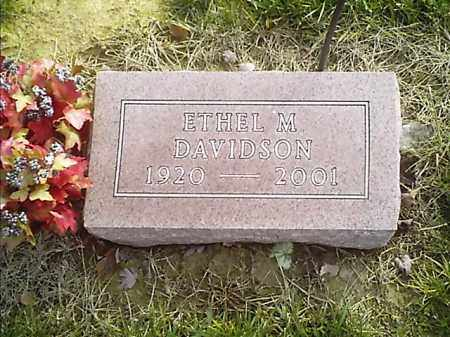 DAVIDSON, ETHEL  M - Clermont County, Ohio | ETHEL  M DAVIDSON - Ohio Gravestone Photos