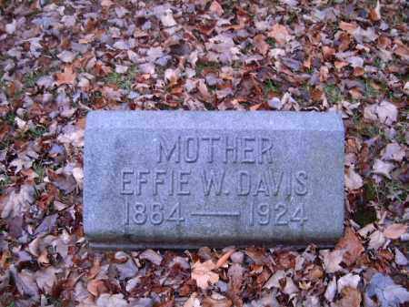 DAVIS, EFFIE  W - Clermont County, Ohio | EFFIE  W DAVIS - Ohio Gravestone Photos