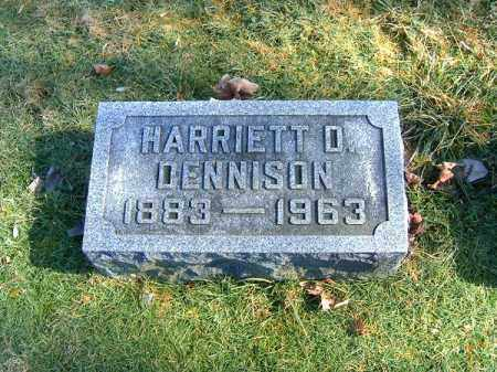 DENNISON, HARRIETT  D - Clermont County, Ohio | HARRIETT  D DENNISON - Ohio Gravestone Photos