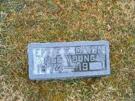 DIXON, EFFIE  E - Clermont County, Ohio | EFFIE  E DIXON - Ohio Gravestone Photos