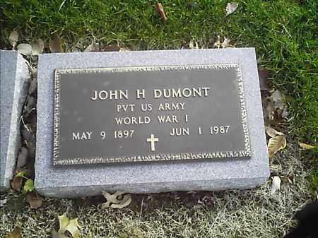DUMONT, JOHN H - Clermont County, Ohio | JOHN H DUMONT - Ohio Gravestone Photos