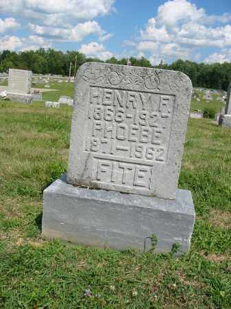 FITE, HENRY F - Clermont County, Ohio | HENRY F FITE - Ohio Gravestone Photos
