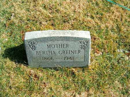 GREINER, BERTHA - Clermont County, Ohio | BERTHA GREINER - Ohio Gravestone Photos