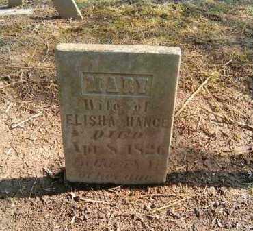 HANCE, MARY - Clermont County, Ohio | MARY HANCE - Ohio Gravestone Photos