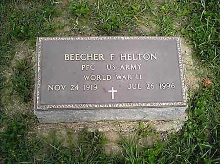 HELTON, BEECHER  F - Clermont County, Ohio | BEECHER  F HELTON - Ohio Gravestone Photos