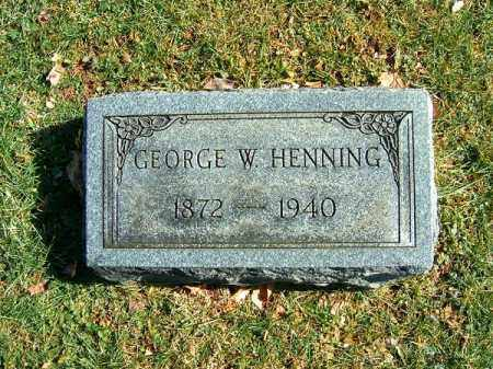 HENNING, GEORGE  W - Clermont County, Ohio | GEORGE  W HENNING - Ohio Gravestone Photos