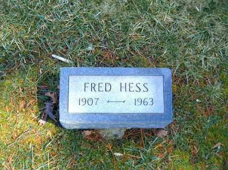 HESS, FRED - Clermont County, Ohio | FRED HESS - Ohio Gravestone Photos