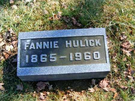 HULICK, FANNIE - Clermont County, Ohio | FANNIE HULICK - Ohio Gravestone Photos