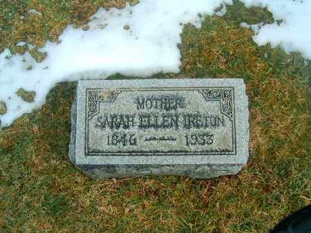 IRETON, SARAH  ELLEN - Clermont County, Ohio | SARAH  ELLEN IRETON - Ohio Gravestone Photos