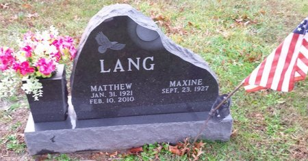 LANG, MAXINE - Clermont County, Ohio | MAXINE LANG - Ohio Gravestone Photos