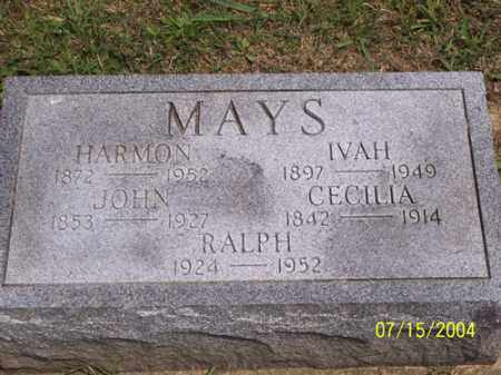 MOYER MAYS, IVA BELLE - Clermont County, Ohio | IVA BELLE MOYER MAYS - Ohio Gravestone Photos