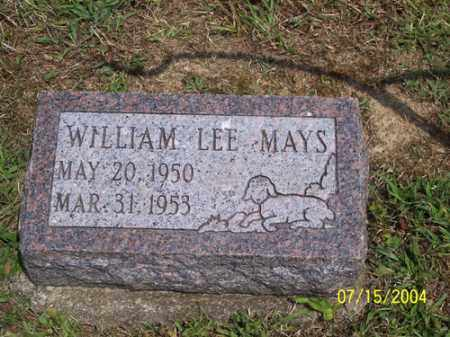 MAYS, WILLIAM LEE - Clermont County, Ohio | WILLIAM LEE MAYS - Ohio Gravestone Photos