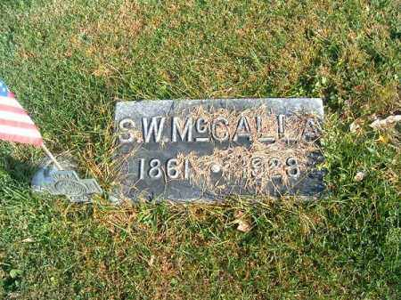 MCCALLA, S  W - Clermont County, Ohio | S  W MCCALLA - Ohio Gravestone Photos