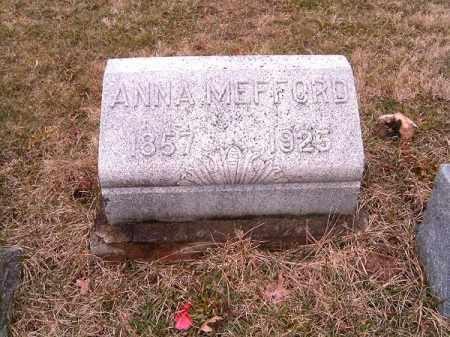 MEFFORD, ANNA - Clermont County, Ohio | ANNA MEFFORD - Ohio Gravestone Photos