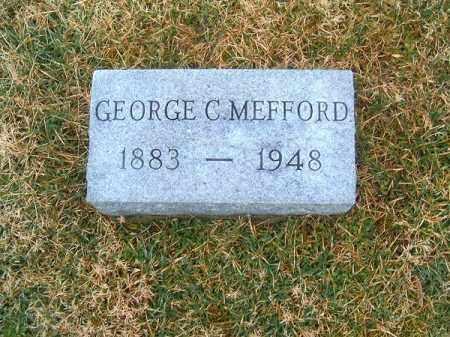 MEFFORD, GEORGE   C - Clermont County, Ohio | GEORGE   C MEFFORD - Ohio Gravestone Photos