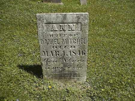 MITCHEL, ANN - Clermont County, Ohio | ANN MITCHEL - Ohio Gravestone Photos
