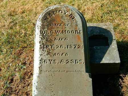 MOORE, NANCY  M - Clermont County, Ohio   NANCY  M MOORE - Ohio Gravestone Photos