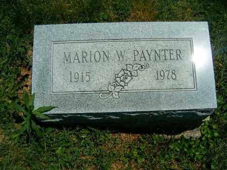 PAYNTER, MARION  W - Clermont County, Ohio | MARION  W PAYNTER - Ohio Gravestone Photos