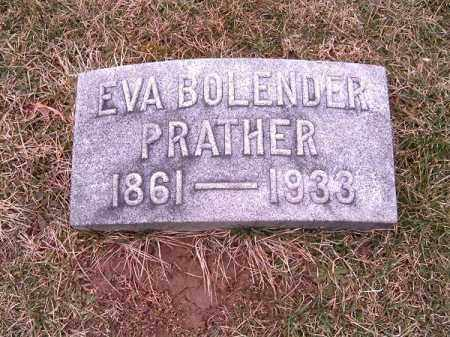 BOLENDER PRATHER, EVA - Clermont County, Ohio | EVA BOLENDER PRATHER - Ohio Gravestone Photos