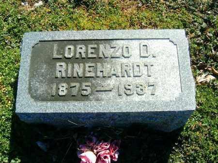 RINEHARDT, LORENZO  D - Clermont County, Ohio | LORENZO  D RINEHARDT - Ohio Gravestone Photos